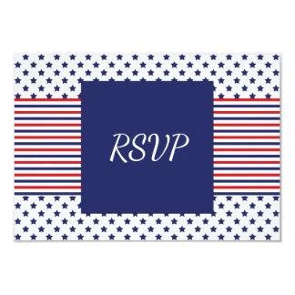Independence Day Wedding RSVP Card