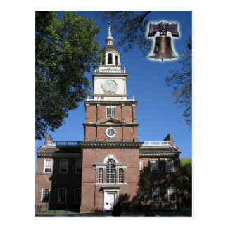 Independence Hall and Liberty Bell, PA Postcard