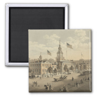 Independence Hall Philadelphia 1876 2 inch magnet