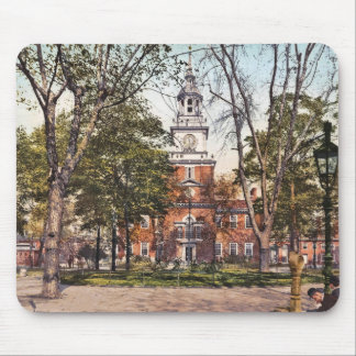 Independence Hall Philadelphia, PA 1900 Vintage Mouse Pad