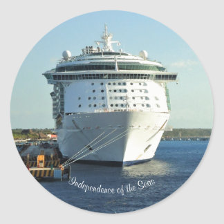 Independence in Cozumel Custom Classic Round Sticker