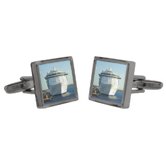 Independence in Cozumel Gunmetal Finish Cuff Links