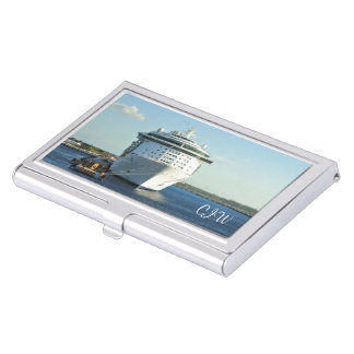Independence in Cozumel Monogrammed Business Card Holder