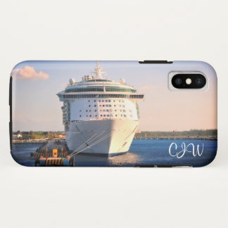 Independence in Cozumel Monogrammed iPhone X Case