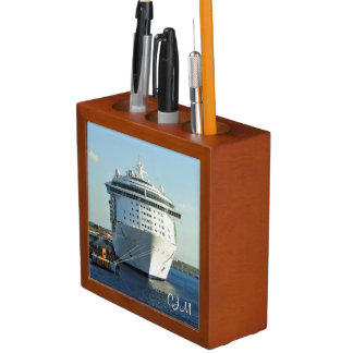 Independence in Cozumel Monogrrammed Desk Organiser