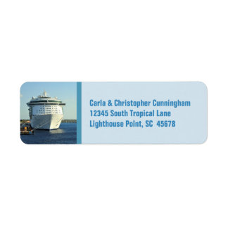 Independence in Cozumel Personalised Return Address Label