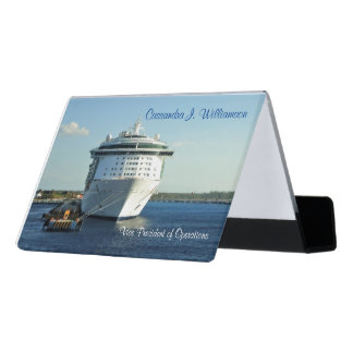 Independence in Cozumel Personalized Desk Business Card Holder