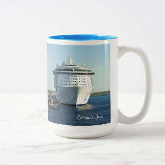Independence in Cozumel Personalized Two-Tone Coffee Mug