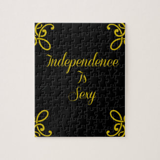 Independence Is Sexy - Motivational Typography Jigsaw Puzzle