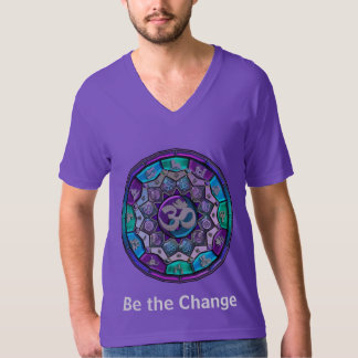Independence Mandala ~ Be The Change in Purple T-Shirt