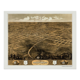 Independence, MO Panoramic Map - 1868 Posters