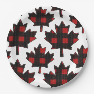 Independence Patch Canada Day Party Paper Plates 9 Inch Paper Plate