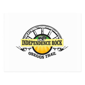Independence rock seal postcard