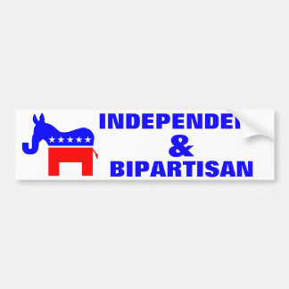 INDEPENDENT & BIPARTISAN - Donkey/Elephant Hybrid Bumper Sticker