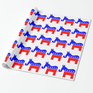 INDEPENDENT & BIPARTISAN - Donkey/Elephant Hybrid Wrapping Paper