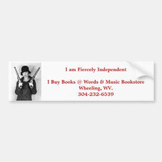 independent bookstore wheeling wv. bumper sticker