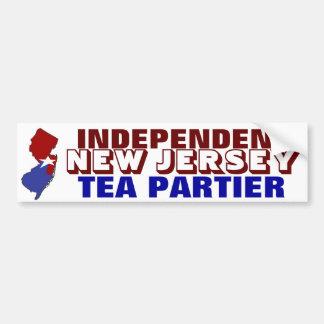 Independent New Jersey Tea Partier Bumper Sticker