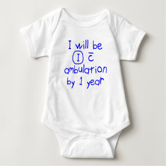 independent with ambulation blue handwriting PT Baby Bodysuit