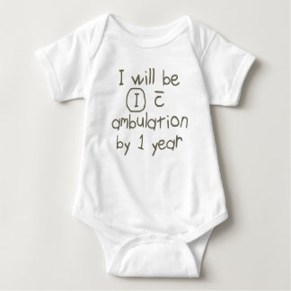 independent with ambulation gray handwriting PT Baby Bodysuit