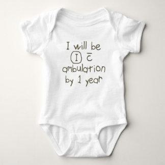 independent with ambulation grey handwriting PT Baby Bodysuit