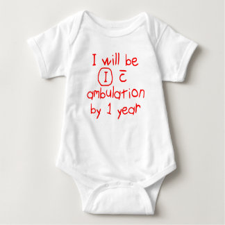 independent with ambulation red handwriting PT Baby Bodysuit