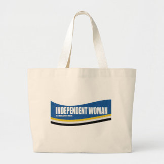 Independent Woman Large Tote Bag
