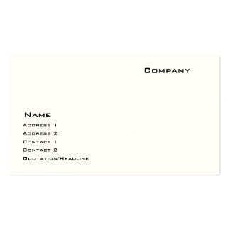 Indestructible Paper Stock Pack Of Standard Business Cards