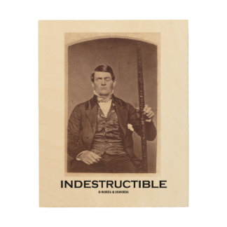 Indestructible Phineas Gage Psychology Humor Wood Print