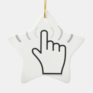 Index a hand ceramic star decoration
