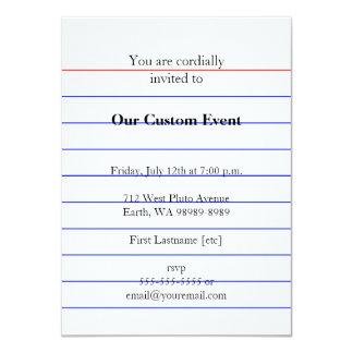 Index Card 11 Cm X 16 Cm Invitation Card