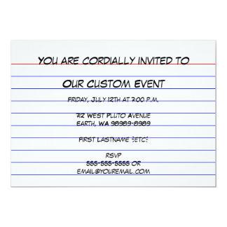 Index Card 13 Cm X 18 Cm Invitation Card