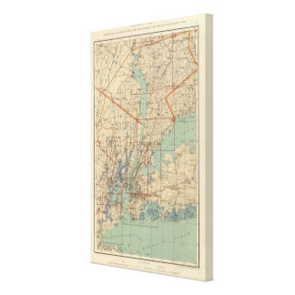 Index Map Gallery Wrapped Canvas