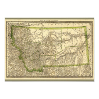 Indexed County Map of Montana (1881) Card