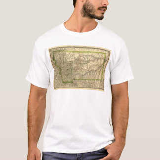 Indexed County Map of Montana (1881) T-Shirt