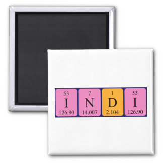 Indi periodic table name magnet