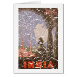 India-1927 - distressed greeting card