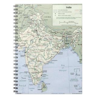 India 3 spiral notebook