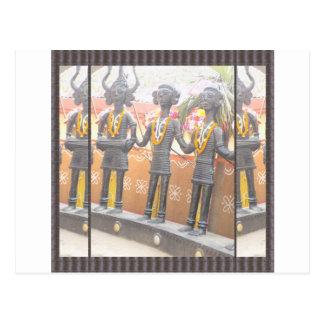 india arts rural crafts statues festival newdelhi postcard