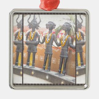 india arts rural crafts statues festival newdelhi Silver-Colored square decoration