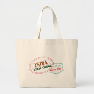 India Been There Done That Large Tote Bag