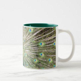 India Blue Peacock Two-Tone Coffee Mug