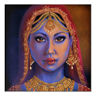 India: Bride Acrylic Wall Art