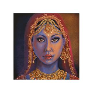 India: Bride Wood Print