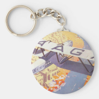 India by Imperial Airways Basic Round Button Key Ring