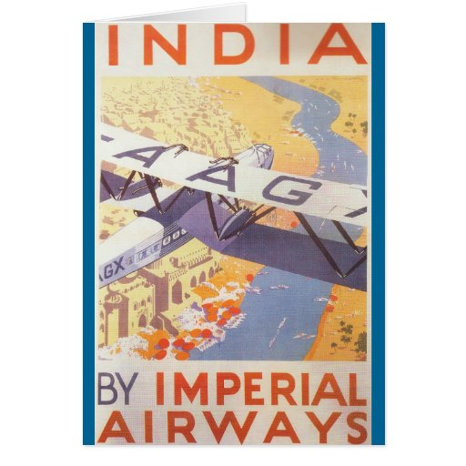 India by Imperial Airways Cards