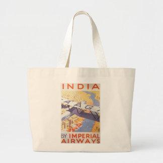 India by Imperial Airways Jumbo Tote Bag