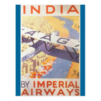 India by Imperial Airways Postcard