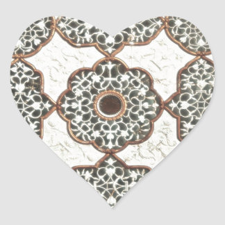India Chic Pattern Heart Stickers
