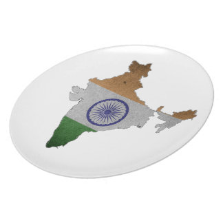 india country flag plate