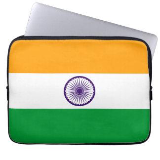 India country long flag nation symbol republic laptop sleeve